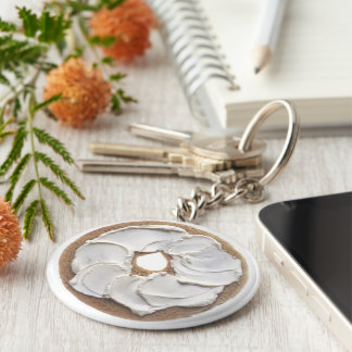 Bagel with Cream Cheese Key Chain