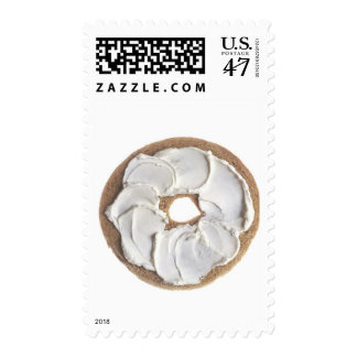 Bagel with Cream Cheese Postage Stamp