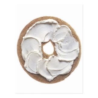 Bagel with Cream Cheese Postcard