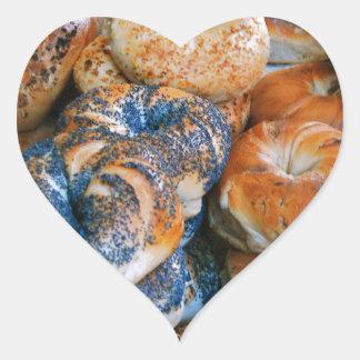 Bagels!! Heart Sticker