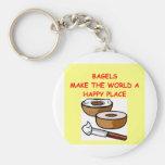 bagels keychains