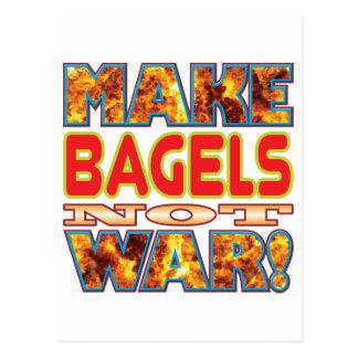 Bagels Make X Postcard