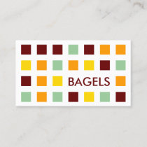 BAGELS mod squares Business Card