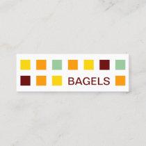 BAGELS mod squares Mini Business Card