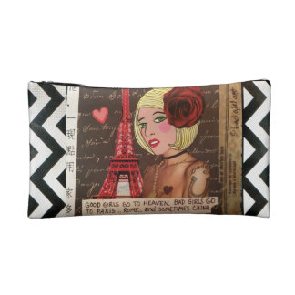BAGETTE- BAD GIRLS GO TO PARIS,ROME AND SOMETIMES MAKEUP BAG