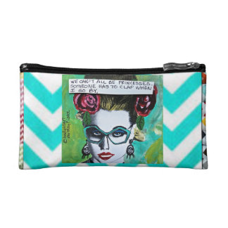 BAGETTE CASE-WE CAN T ALL BE PRINCESSES COSMETICS BAGS