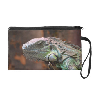 Bagettes Bag with colourful Iguana lizard