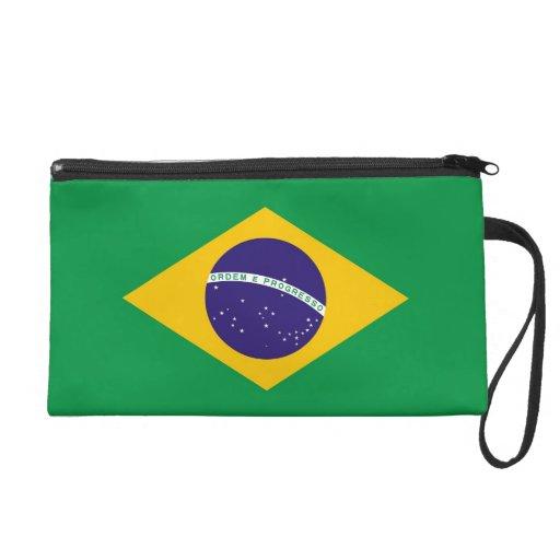 Bagettes Bag with Flag of Brazil Wristlet Purse