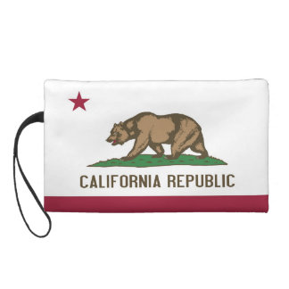 Bagettes Bag with Flag of California, U.S.A. Wristlets