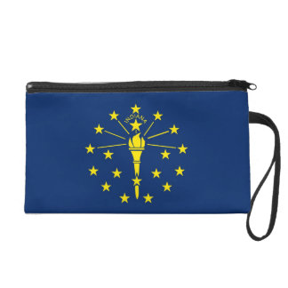 Bagettes Bag with Flag of Indiana, U.S.A. Wristlet