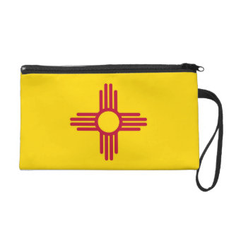 Bagettes Bag with Flag of New Mexico, U.S.A. Wristlet Clutches