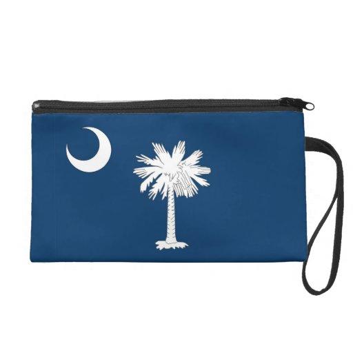 Bagettes Bag with Flag of South Carolina, U.S.A. Wristlet Clutch
