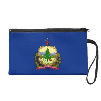 Bagettes Bag with Flag of Vermont, U.S.A. Wristlet Purse