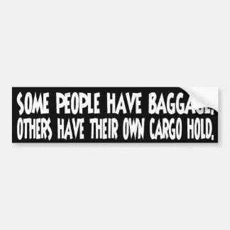 Baggage Car Bumper Sticker
