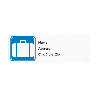 Baggage Check / Claim Highway Sign Label