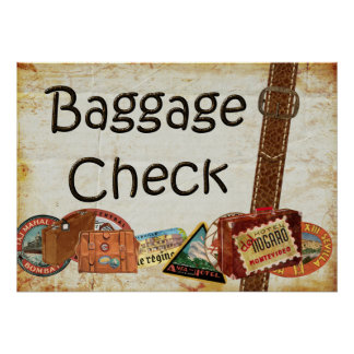 Baggage Check Sign
