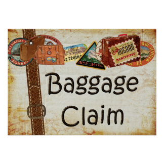 Baggage Claim Sign