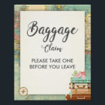 "Baggage Claim Sign Travel shower Miss to Mrs Favor<br><div class=""desc"">♥ A nice way to welcome your guests to your bridal shower! Miss to Mrs theme.</div>"