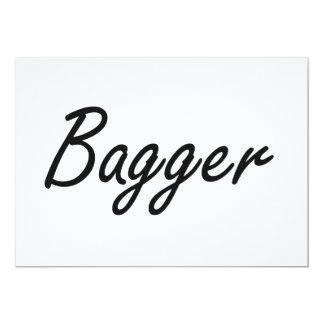 Bagger Artistic Job Design 5x7 Paper Invitation Card