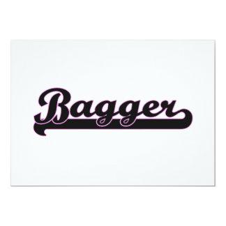 Bagger Classic Job Design 5x7 Paper Invitation Card