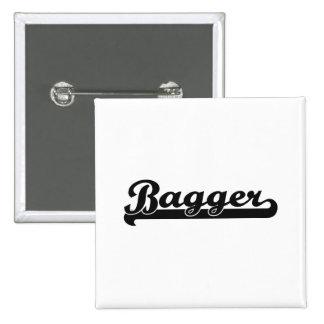 Bagger Classic Job Design 2 Inch Square Button