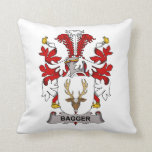 Bagger Family Crest Throw Pillows
