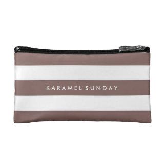 Baggette - KS Signature Nautical Brown Makeup Bag