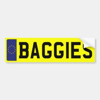 BAGGIES Number Plate Bumper Sticker