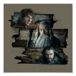 BAGGINS™, Gandalf, THORIN OAKENSHIELD™ Póster