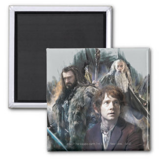 BAGGINS™, THORIN OAKENSHIELD™, & Gandalf 2 Inch Square Magnet