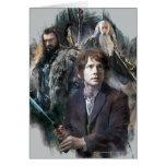 BAGGINS™, THORIN OAKENSHIELD™, y Gandalf Tarjeta De Felicitación