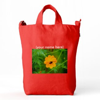 BAGGU Bag with custom wildflowers