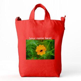 BAGGU Bag with custom wildflowers
