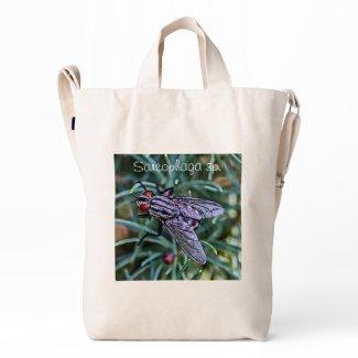 Fesh Fy & Cross Spider macro BAGGU Duck Bag