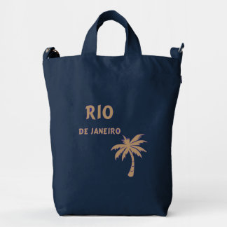 Baggu Duck Bag with Golden Rio and Palmtree