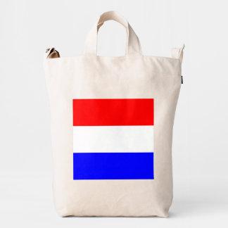Baggu Duck Tas met Rood-Wit-Blauw Duck Canvas Bag