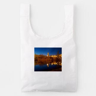 BAGGU Reusable Bag, White SLC Temple & Conference Reusable Bag