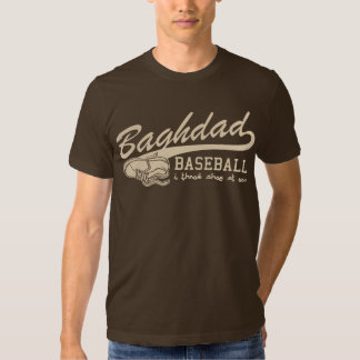 baghdad baseball - i throw shoe at you t shirt