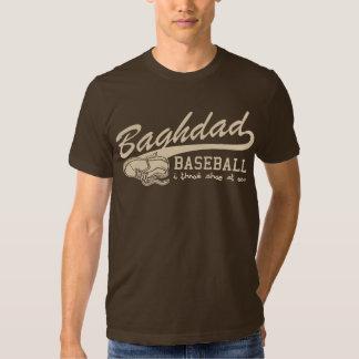 baghdad baseball - i throw shoe at you t-shirts