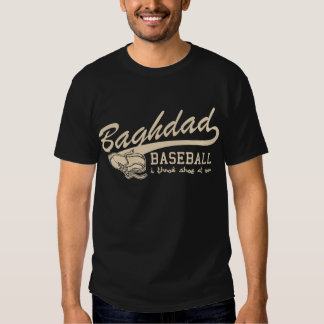 baghdad baseball - i throw shoe at you tee shirt