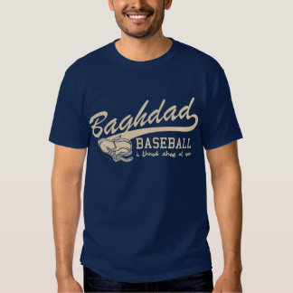 baghdad baseball - i throw shoe at you tees