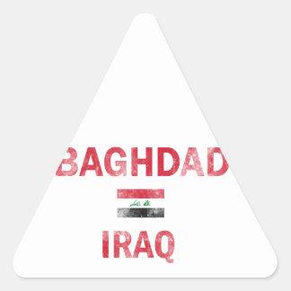 Baghdad Iraq Designs Triangle Sticker