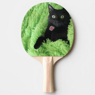 Bagheera el gato negro pala de tenis de mesa
