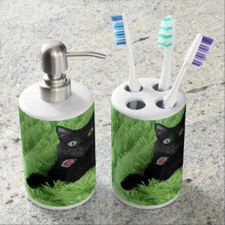 Bagheera el gato negro vaso para cepillos de dientes