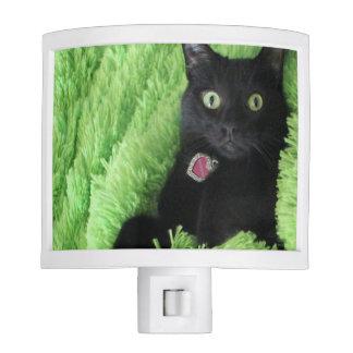 Bagheera la luz de la noche del gato negro luces de noche