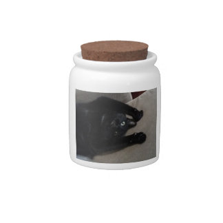 Bagheera the Black Cat Candy Dish