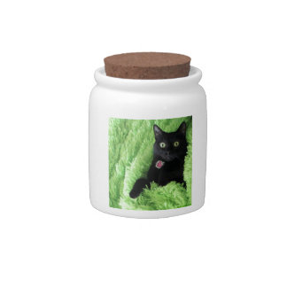 Bagheera the Black Cat Candy Dishes