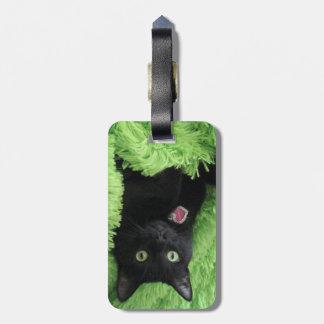 Bagheera the Black Cat Luggage Tag
