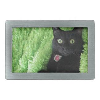 Bagheera the Black Cat Rectangular Belt Buckle