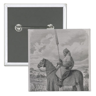Baghirmi trooper in quilted armour pin